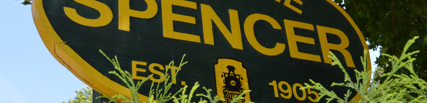 photo of Spencer welcome sign